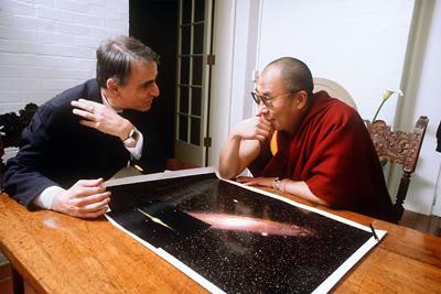 Sagan y el Dalai Lama.