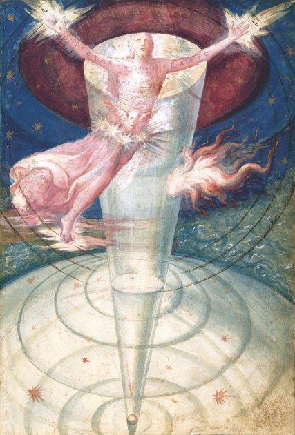 Un pintura de 1573 del artista portugués, historiador y filósofo Francisco de Holanda, un estudiante de Miguel Ángel, del libro de Michael Benson 'Cosmigraphics'-una historia visual para entender el universo.